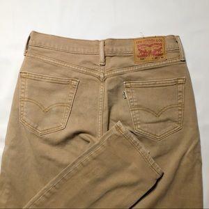 Levi's 514 Slim Straight Tan Pants